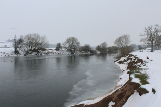 The Icy Wye in the snow
